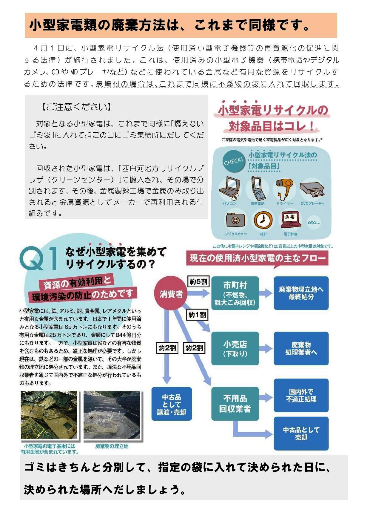 『『小型家電リサイクル法がスタートしました。』の画像』の画像