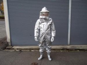 『ハチ防護服』の画像