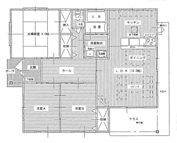 『賃貸2号棟間取り(2)』の画像