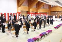 村内の小中学校で入学式が行われました。